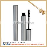 Empty slim shape metal mascara tube mascara packaging