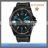 Black Colour Silicon Strap Wrist Watch Stainless Steel 5 ATM Water Resistant
