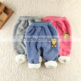 Wholesale 201 Autumn Girls & Boy Harem Capris Pants For Age 2-10 New Cute Candy Color Terry Child Clothing Solid Kids Children