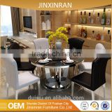 Hot sale modern restaurant furniture 201 stainless steel banquet dining chair set