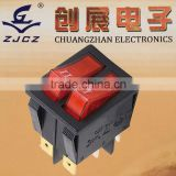 120v dpdt rocker switch,125V AC Long life electric rocker switches make machine push button switch