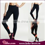 Hot Sexy Ladies Leggings Sex Photo Muslim Sport Leggings For Girls Simple Black And Orange Fitness Leggings Wholesale