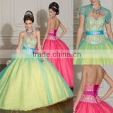 Hot sale beaded short sleeve custom-made Quinceanera dresses CWFab4246