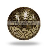 Blue Metal Drawer Knob with embossed design