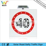 IP65 Driveway Overpass Aluminum Solar Speed Load Limit Traffic Sign Road Safety Flashing Light