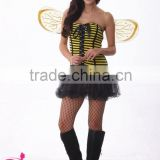 2015 new design honey bee fancy dress sexy halloween costumes for women sex fantasy dress costume