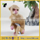 New year animated plastic animal statues for garden life size monkey