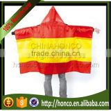 Spain Polyester Body Flag Cape with both hat & sleeve for Euro 2016