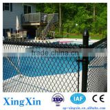 exort metal chain link fence, Black Chain Link Fence around Pool, vinyl chain link fence (Pd - 022)
