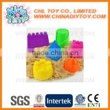 Promotional DIY intelligent magic sand, wholesale kids safety educational sand toy, colorful ultra soft space sand