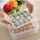 CY034 Household Article Fresh Dumpling Crisper Box Microwave Thawing Non Stick Food Tray Dumplings Preserving Box