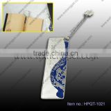blue and white porcelain bookmark