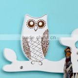 cartoon owl kids wooden hangers, baby clothes rack