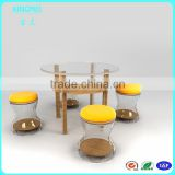 Round acrylic coffee table ,living room modern and popular acrylic lucite furniture,high quality acrylic desk chair