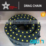 high speed cnc cable chain flexible plastic electric pipe made in china bridge type cable wire tracks drag chains
