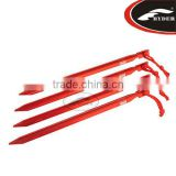 7 inch Outdoor 7000 Series Heavy Duty Aluminum Y Shape Tent Stakes With Reflective Pull Loop