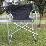 High quality factory cheap folding aluminum director chair with cup holder