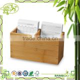 Aonong Simple Decorative Bamboo Note Holder Name Card Box