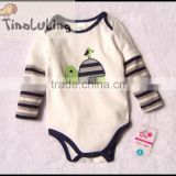 brand new boys turtle animal long sleeve rompers,boys bodysuits,boys winter clothing