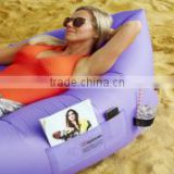 Wholesale Inflatable Air sofa Lounger with bag, pockets & anchor parachute material made with heavy duty 210T waterproof