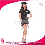 Sexy Halloween cosplay Ladies Black Police Officer Cop Uniform Fancy Dress Party Costume