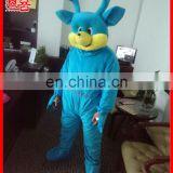 Popular animal cartoon costuem blue color plush deer mascot adult costume