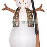 Inflatable Hunting Snowman