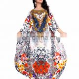 Beautiful 3D Digital Printed Straight Kurta / Beautiful Printed Straight Style Long Kaftan (kaftans 2017)
