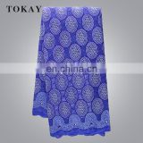 African Lace Fabric With 100% Cotton Cheap Price In Royal Blue