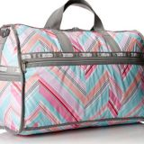 large weekender handbag with full printed zigzag
