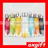 OXGIFT HOT SALE Creative shape Fruit Infused Water Bottle / juicer water bottle / lemon water bottle