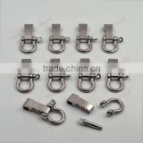 10 Pcs /Lot Silver Adjustable Paracord Buckle O-shaped Survival Shackle