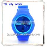 bright color silicone jelly watches colorful jelly silicone watch