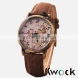 New Vintage Earth World Map Watch Alloy Women Men Analog Quartz Wrist Watches                                                                         Quality Choice