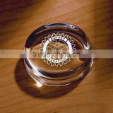 Transparent crystal moulding round paperweight