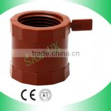 PP 2 inch plastic female thread half pipe sockets/couplings fittings