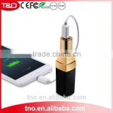 Custom fashion lipstick 3000mah power bank promotion gift rechargeable battery li-ion                                                                         Quality Choice