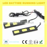 2015 good quality flexible 100%waterproof newest 3*COB led drl universal daytime running light