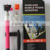 New Small Package Bluetooth Cellphone Holder/Kjstar Z07-5 Bluetooth Monopod for iPhone/Samsung