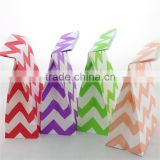 Wholesale kraft paper bag printed gift paper bags for wedding baby shower birthday party new year