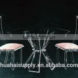 New arrival Romantic Acrylic wedding table and chairs dining room sets from china furnitures supplier
