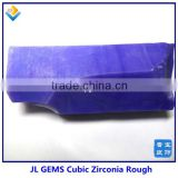 Hot Sale Violet Milky CZ / Cubic Zirconia Uncut Rough Gemstone Raw Materials Prices ,price of 1 carat