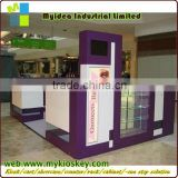 Style and size customize eyebrow kiosk classical eyebrow threading kiosk for sale indoor mall eyebrow threading kiosk design