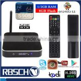 Wholesale Android 5.1 TV BOX Metal Case T95 Amlogic S905 Quad core Android Smart TV Set Top BOX