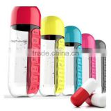 creative design tritan material BPA free amazing weekly pill bottle