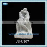 elegant marble nude man and women statue
