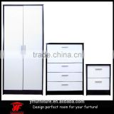 Popular mirror double color wardrobe dressing table design furniture bedroom set                                                                                                         Supplier's Choice