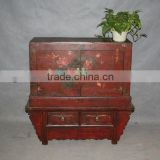 Chinese antique red wedding cabinet