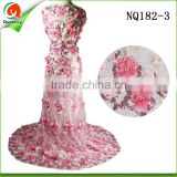 africa french net sequins embroidery fabric high quality party laces with sequins and pearls