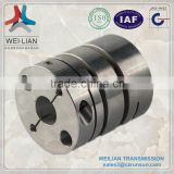 SJL Double Clamp Type Flexible Shaft Coupling ,25mm flexible rubber couplings used in t-shirt printing machine